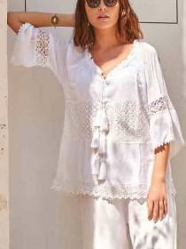 Prezzo Deco David costumi camicia Bahamas DB21-011-bianco